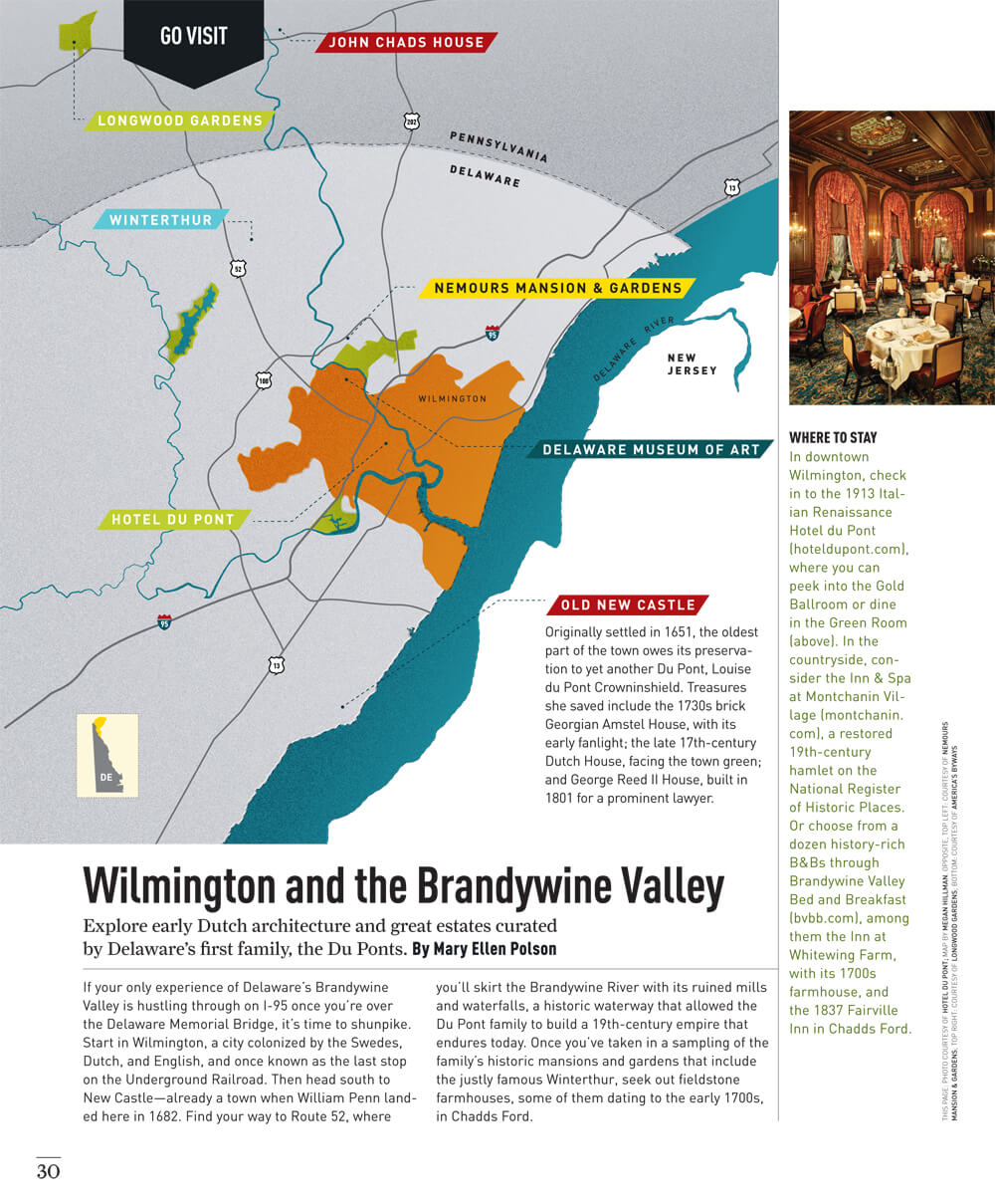 Wilmington and the Brandywine Valley Map by Megan Hillman