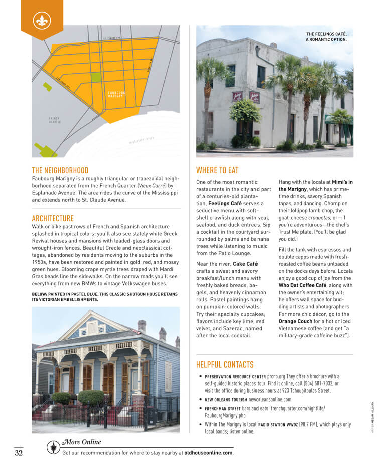 Faubourg Marigny in New Orleans by Megan Hillman