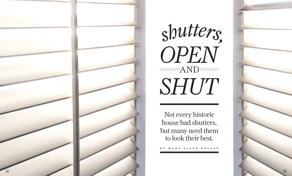 Shutters: Open and Shut by Megan Hillman