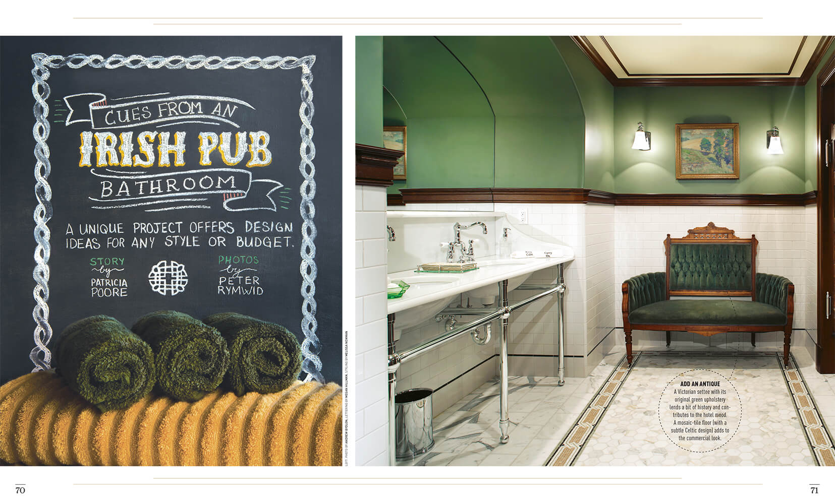 Cues from an Irish Pub Bathroom lettering by Megan HIllman
