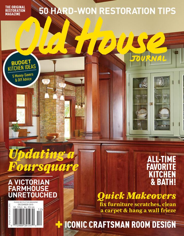Old House Journal cover by Megan Hillman